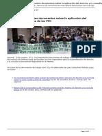 Servindi - Servicios de Comunicacion Intercultural - Peru Dos Importantes Documentos Sobre La Aplicacion Del Derecho a La Consulta de Los Ppii - 2011-10-10