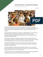09/05/2018 Sylvana y Maloro serán Senadores Claudia Ruiz Massieu