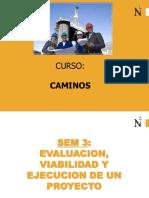 Clase S3 CAMINOS Viabilidad de Proy