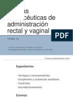 Tema 18.- Formas Farmaceuticas de Administracion Rectal y Vaginal