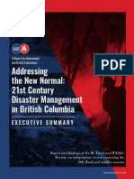 BC Flood and Wildfire Review Addressing the New Normal 21st Century Disaster Management in BC Executive Summary