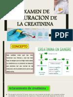 Examen de Depuracion de La Creatinina