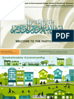Sustainable Communities in Pakistan Presentation 10-5-2018