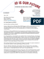 May 8 2018 - UBCIC letter to Canada Re