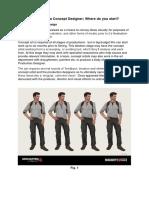 Premise | Information for Magazine Article on 'Concept Designer'