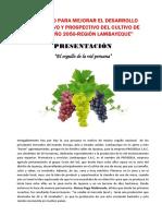 Proyecto Para Mejorar El Desarrollo Perspectivo y Prospectivo Del Cultivo de Uva Al Año 2050natalia