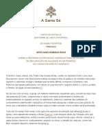 MITIS IUDEX DOMINUS IESUS Sobre a Reforma Do Processo Canônico Para as Causas de Declaração de Nulidade Do Matrimônio No Código de Direito Canônico