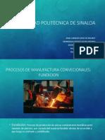 Proceso de manufactura Fundición