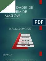 Necesidades de La Teoria de Maslow