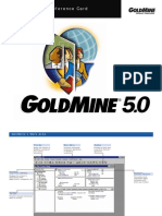 Goldmine 5 Quick Ref Card
