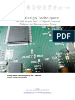Pcb Design for Si Emc Differental Transmission Lines