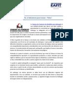 Articulo Camara de Comercio Cluster de Cafe
