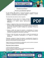 Evidencia 5 Manual Procesos y Procedimientos Logisticos