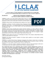 LCLAA Resolution Supporting Workers at Las Vegas Gaming Company Station Casinos