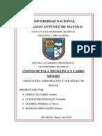 Perforacion y Voladura de Rocas Costos de Pala Neumatica y Carro Minero