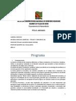 Programa de Derecho Comercial - Titulos y Concursos