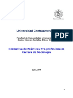 Normativa de Prc3a1cticas Pre Profesionales de La Carrera de Sociologc3ada