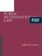 (Essentials of Canadian Law) John H Currie-Public International Law-Irwin Law (2008)