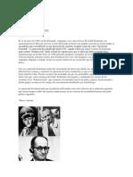 El 11 de Mayo de 1960, En San Fernando, Argentina; El Ex Oficial de Las SS Adolf Eichmann