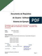 Documento de Requisitos - Ejemplo