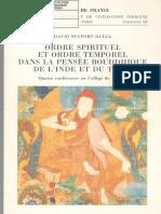 [Ruegg,_david_seyfort] - Ordre Spirituel Et Ordre Temporel Dans La Pensée Bouddhique de l'Inde Et Du Tibet