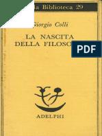 Colli, Giorgio - La Nascita Della Filosofia [1978]