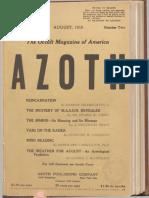 Azoth, August 1918