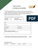 2016 Volunteer Application Form