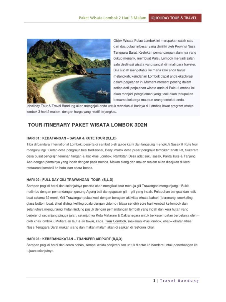 Paket Wisata Lombok Liburan