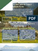 Lo Que Debe Saber Antes de Viajar a Machu Picchu