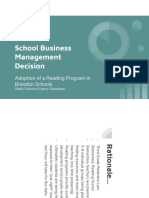 school business management decision