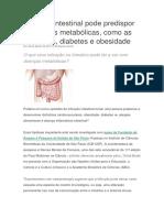 Infecção Intestinal Pode Predispor a Doenças Metabólicas
