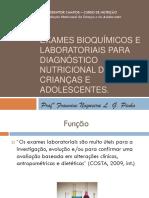 Aula Exames Bioquimicos e Laboratoriais Para o Nutricionista
