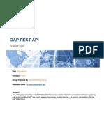 Gap Rest API Doc