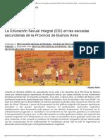La Educación Sexual Integral (ESI) en Las Escuelas Secundarias de La Provincia de Buenos Aires – Conversaciones Necesarias