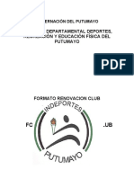 FORMATO CLUBES