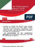 Presentación del Informe de Salarios 2018