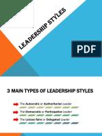 Leaderships Styles Powerpoint