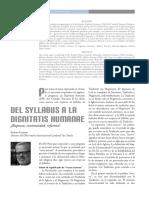 Del Syllabus a La Dignitatis Humanae