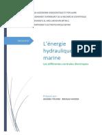 Centrale hydraulique et marine