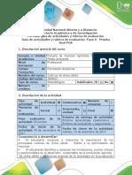 Guía de Actividades y Rubrica de Evaluación -Fase 6- Prueba Final. POA