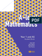 A-level Maths Generic Sample Chapter Year 1 FINAL
