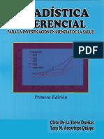 Estadística Inferencial - Cleto de La Torre Dueñas
