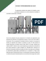 Sistema de Secado y Intercambiadores de Calor