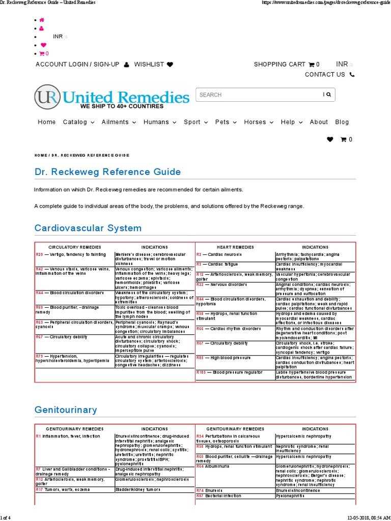 Dr  Reckeweg Reference Guide – United Remedies pdf   Bronchitis