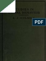 Studies in Animal Behavior Holmes