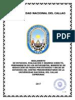 076-17-Cu Reglamentos Estudios, Evaluacion, Ingreso Directo, Permanencia, Becas - Cpu Anexo