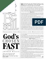 Be Still Gods Chosen Fast