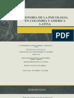 Historia de La Psicologia en Colombia y America