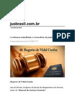A reforma trabalhista e o benefício da justiça gratuita.pdf